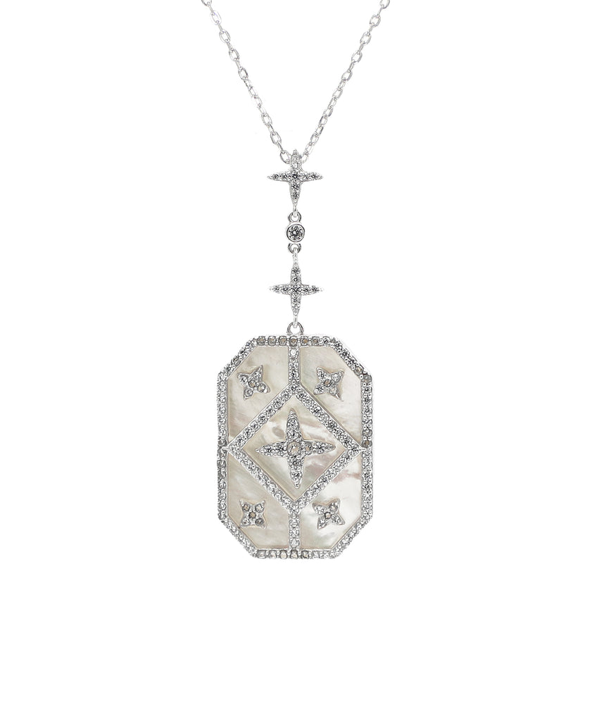 Mother of Pearl & Cubic Zirconia Necklace