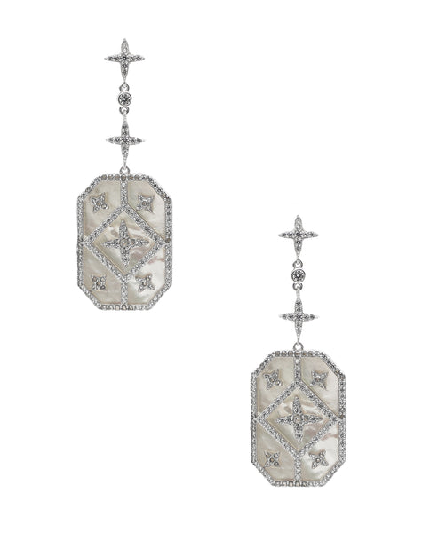 Zoom view for Mother of Pearl & CZ Earrings