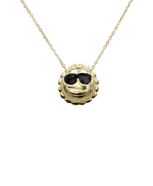 Emoji Necklace w/ Sunglasses  FOX'S EXCLUSIVE