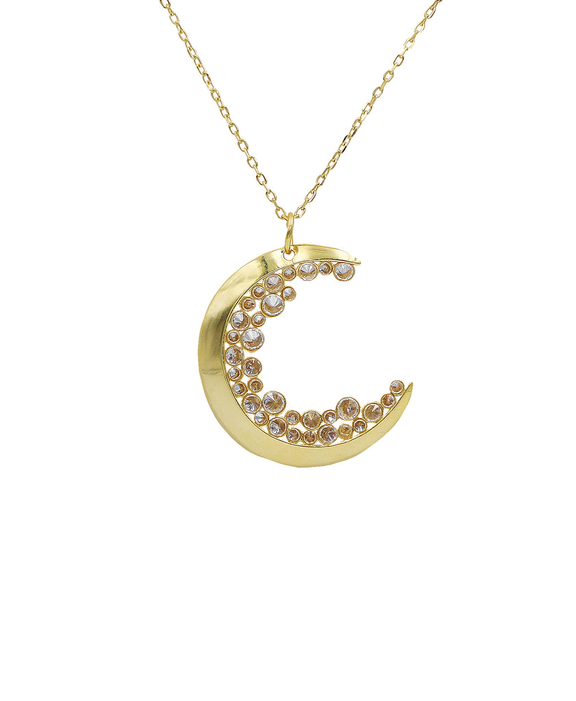 """Crescent Moons"" Necklace"