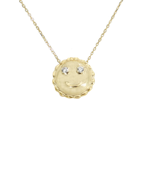 Zoom view for Emoji Necklace w/ CZ Eyes