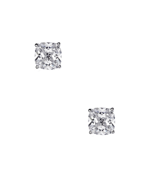 Cushion Cut Cubic Zirconia Stud Earrings (1.28 ct. t.w)  FOX'S EXCLUSIVE
