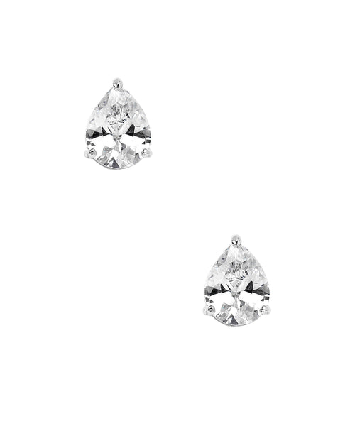 Zoom view for Pear Cut Cubic Zirconia Stud Earrings (approx. 1.28 ct. t.w.)