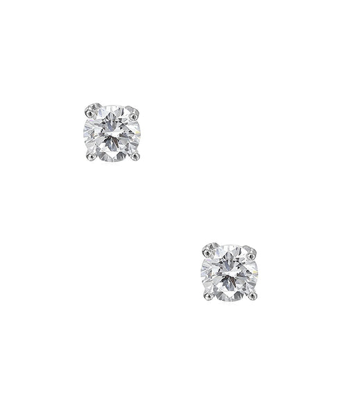 Zoom view for Round Cut Cubic Zirconia Stud Earrings (0.84 ct. t.w)