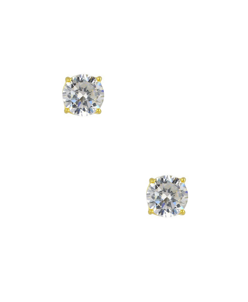 Round Cut Cubic Zirconia Stud Earrings (0.84 ct. t.w)