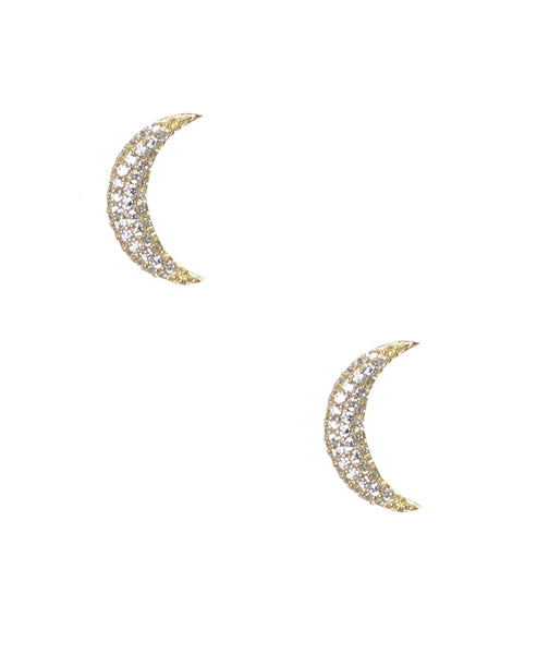 "Zoom view for ""Mini Crescent Moon"" Earrings"