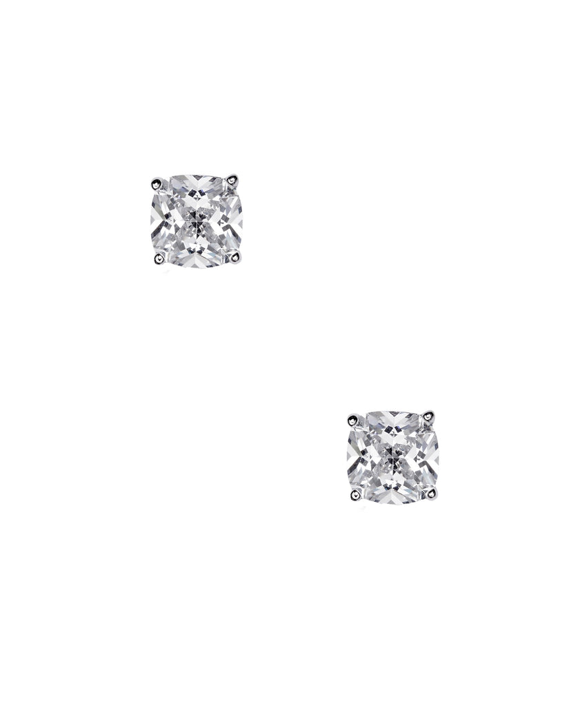 Cushion Cut Cubic Zirconia Stud Earrings (0.84 ct. t.w)