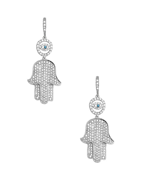 "Zoom view for ""Hamsa"" Earrings w/ Lever Back"
