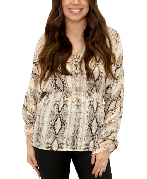 Zoom view for Snake Print Blouse
