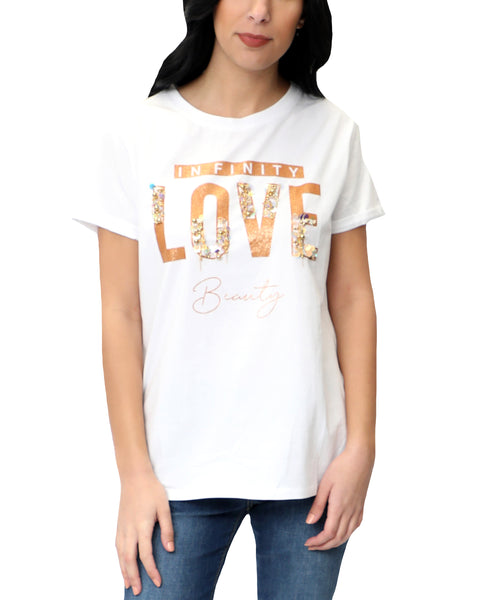 "Zoom view for ""Infinity Love"" Sequin Tee"