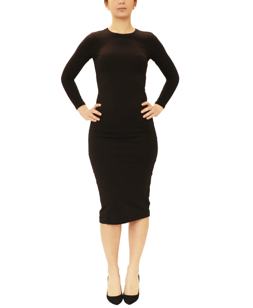 Body Con Long Sleeve Shell Dress