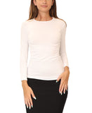 Cotton 3/4 Sleeve Layering Shell Top - Fox's
