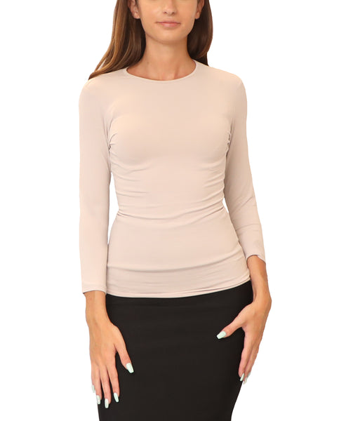 Zoom view for Cotton 3/4 Sleeve Layering Shell Top - Fox's