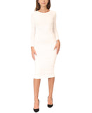 Cotton Body Con Shell Dress - Fox's