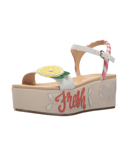 """Lemon"" Platform Wedge Sandal"