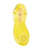 """Lemon"" Scented Jelly Thong Sandal"