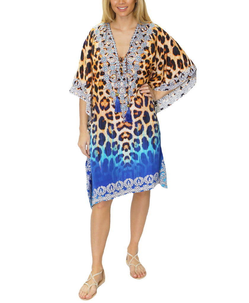 f37d90255dd02 Selecting any of the thumbnail buttons will update the main carousel image.  Zoom view for Caftan Swim Cover-Up ...