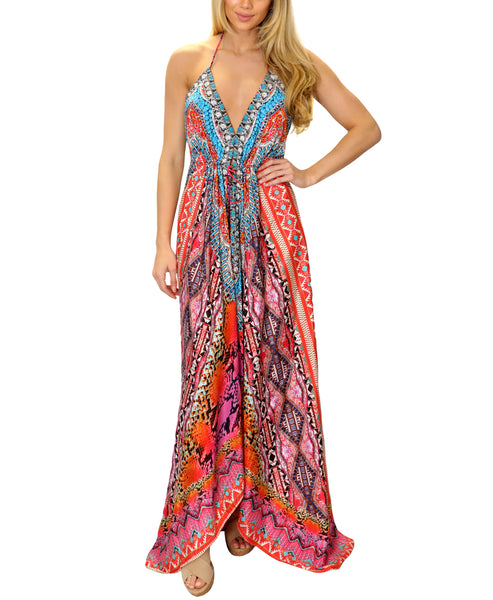 Hi-Lo Halter Maxi Dress