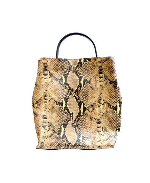 Zoom view for Snake Print Leather Tote