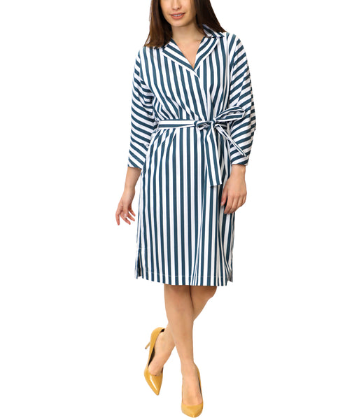 Zoom view for Stripe Shirt Dress