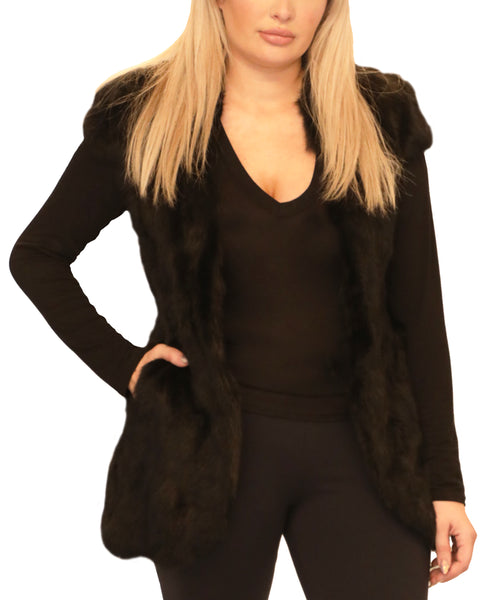 Fur Cape Sleeve Vest - Fox's