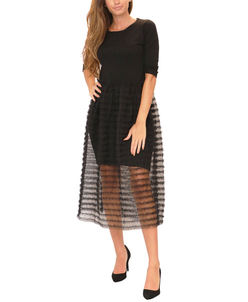 Sweater Dress w/ Tulle - Fox's