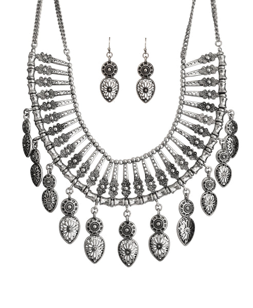 Zoom view for Statement Collar Necklace & Earring Set