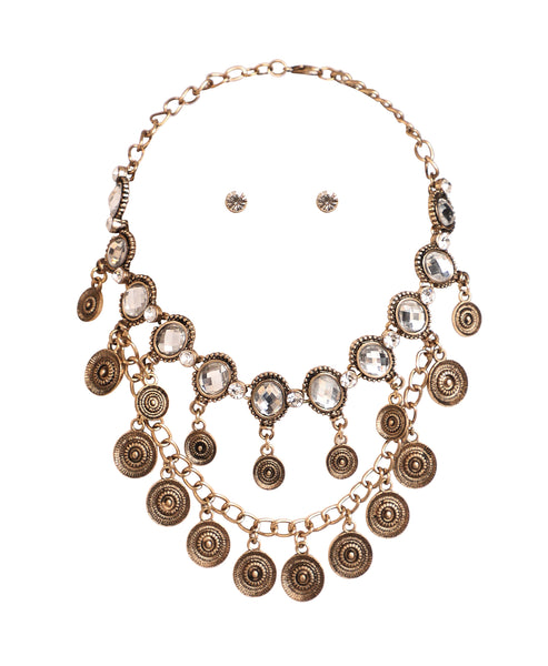 Zoom view for Crystal Statement Necklace & Earring Set