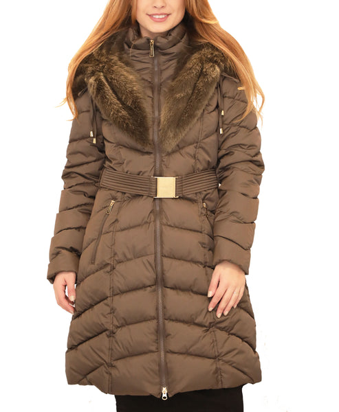 Puffer Coat w/ Faux Fur Hood