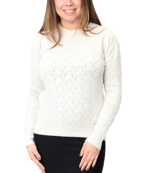 Zoom view for Pointelle Dot Sweater