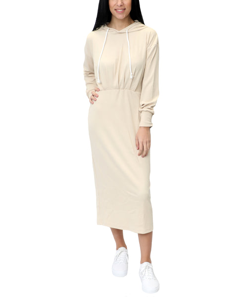 Zoom view for Ribbed Hooded Dress