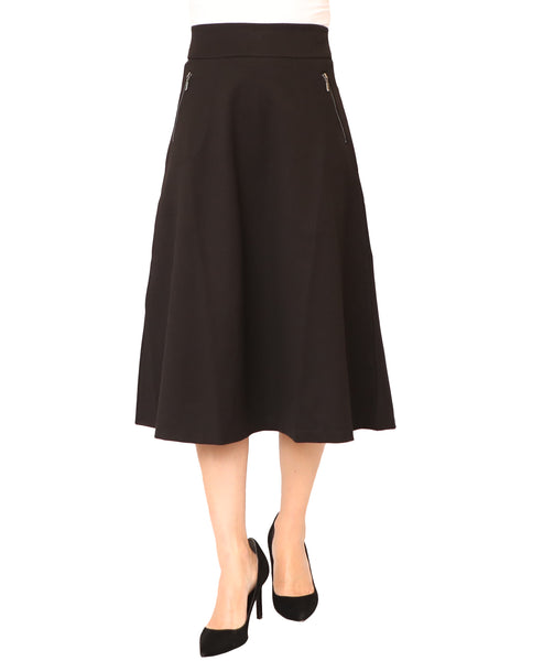 A-Line Skirt w/ Zipper Pockets