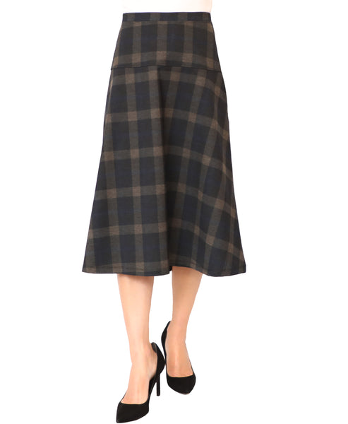 A-Line Plaid Skirt - Fox's