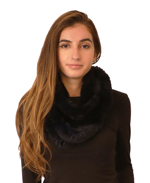 Rex Rabbit Fur Infinity Scarf - Fox's