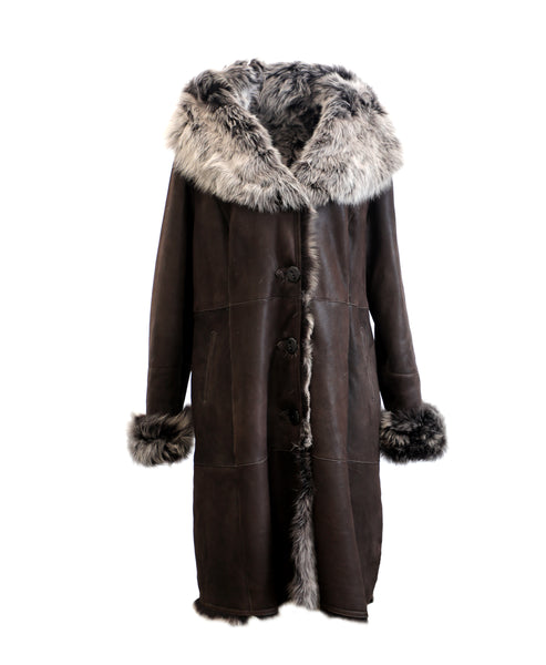 Zoom view for Shearling Coat w/ Hood