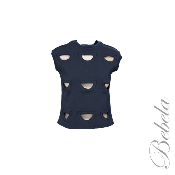 Cap Sleeve Top w/ Cut Outs