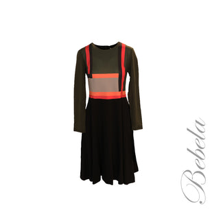 Fit & Flare Color Block Dress
