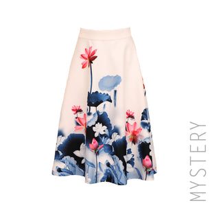 Fit & Flare Floral Skirt