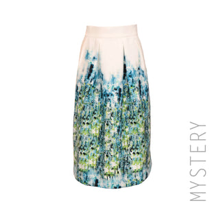 Watercolor Box Pleat Skirt