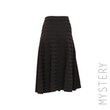 Fit & Flare Ribbed Skirt