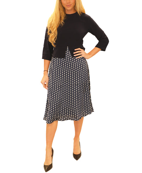Zoom view for Fit & Flare Polka Dot Dress