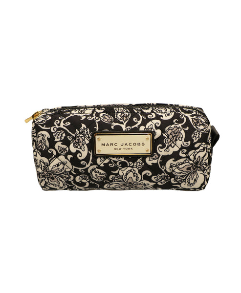 Floral Quilted Cosmetic Case