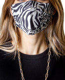 2pc Face Mask Set w/ Chain Link Mask Holder