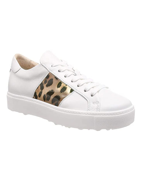 Zoom view for Leather Fashion Sneaker w/ Leopard Detail