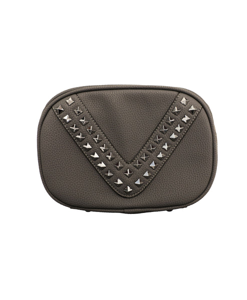 Handbag w/ Studs and Chain Strap