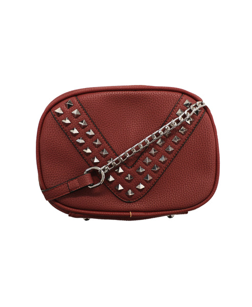 Handbag w/ Studs and Chain Strap - Fox's