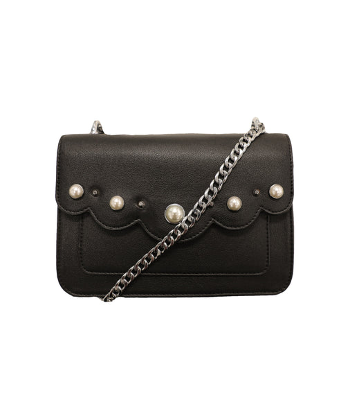 Handbag w/ Pearls & Chain Strap