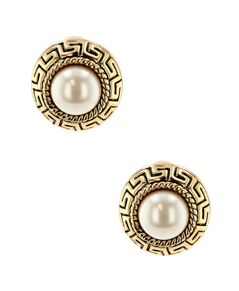 Zoom view for Clip On Earrings w/ Pearls - Fox's