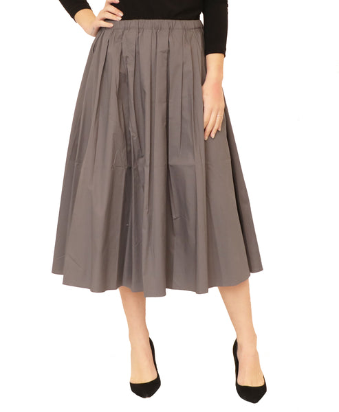 Gathered Waist Full Skirt