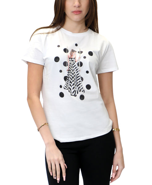 Zoom view for Sequin Girl on Swing Tee